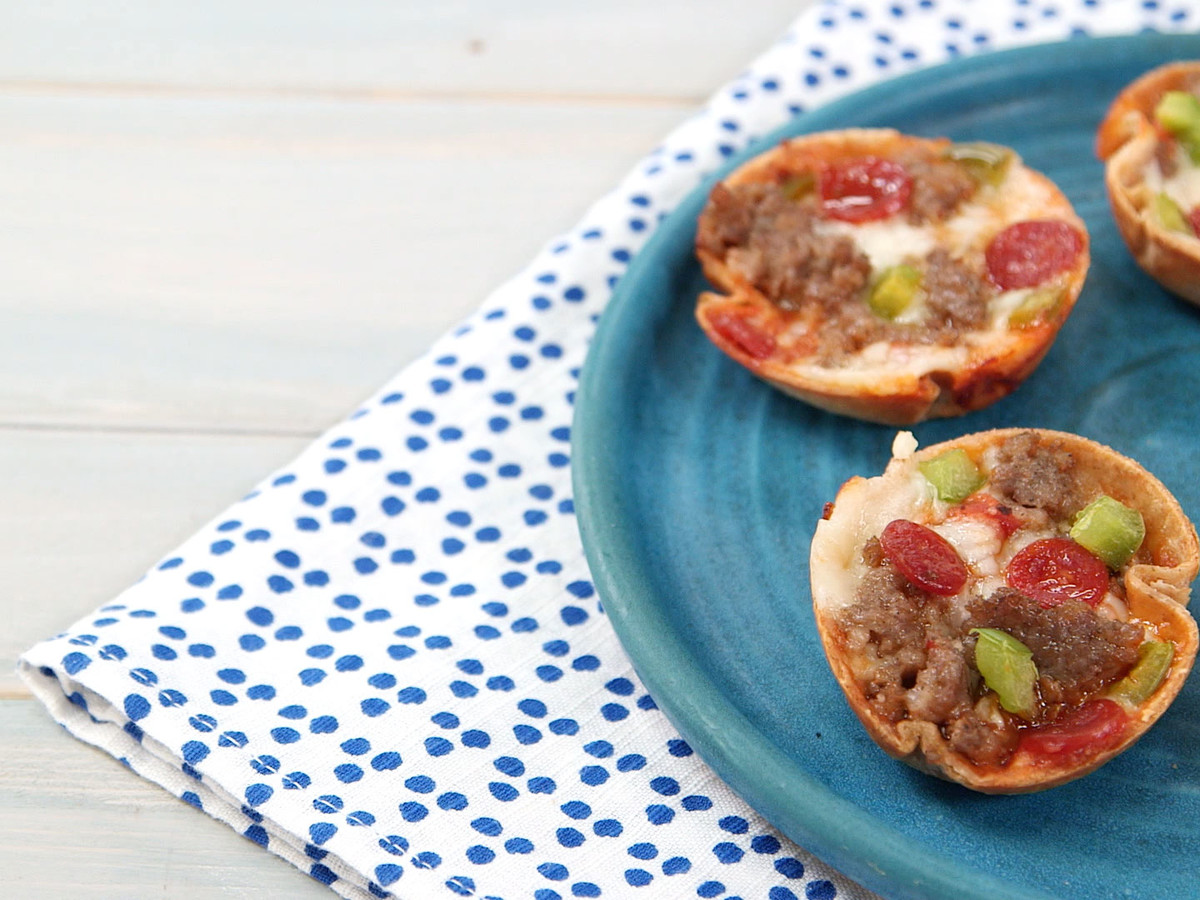 Mini Deep-Dish Pizzas Still Image