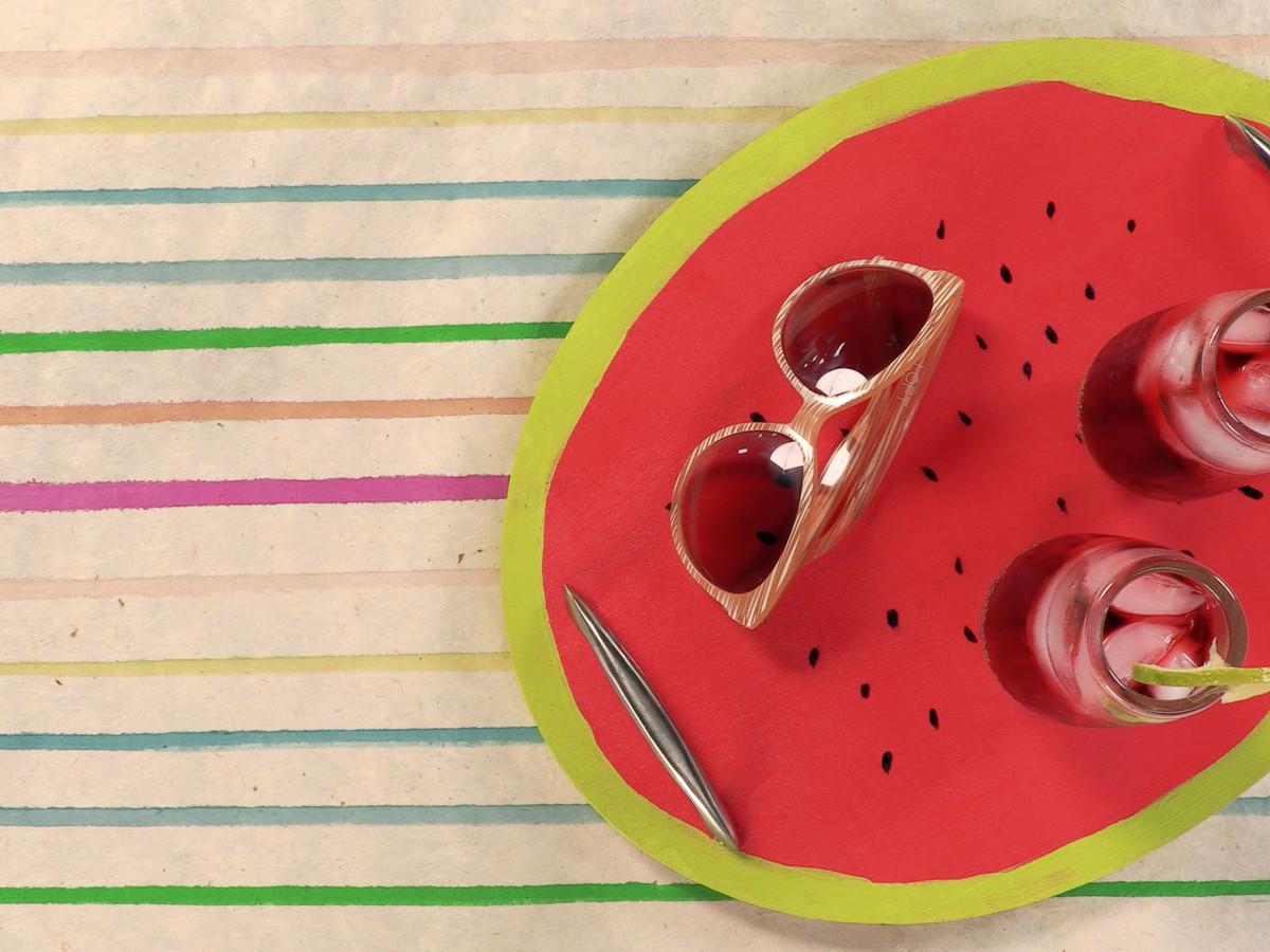 Painted Watermelon Tray Image