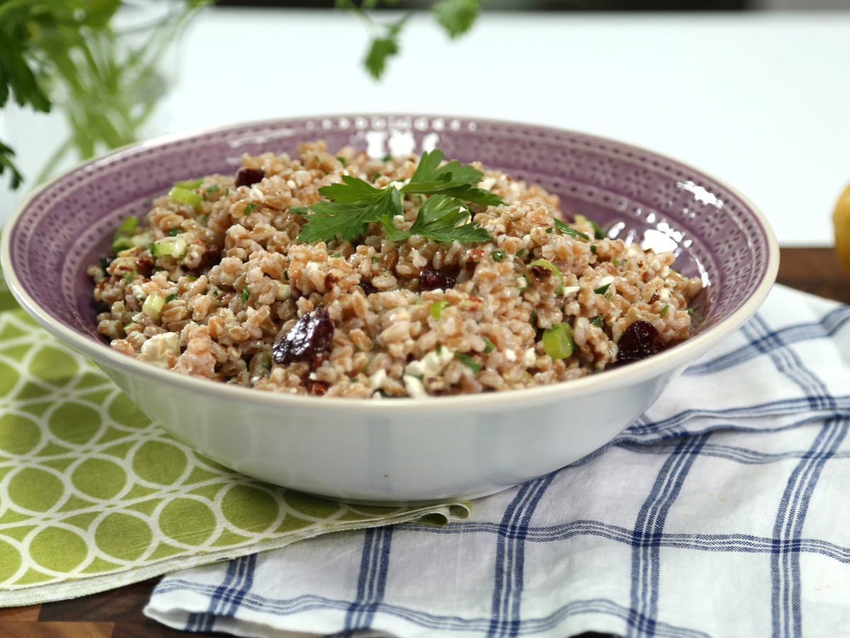 Virginia Willis Farro Pecan Salad