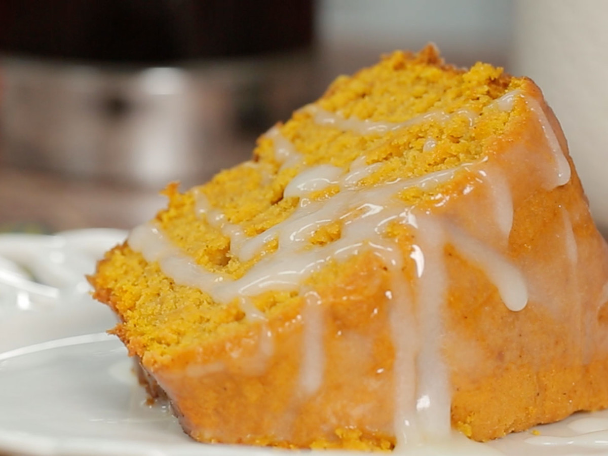 Cooking Light Pumpkin Pound Cake with Buttermilk Glaze
