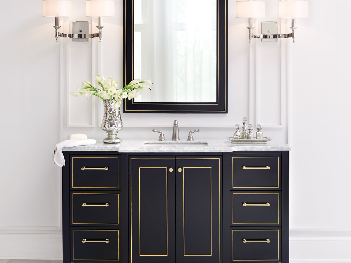Black and Gold Vanity