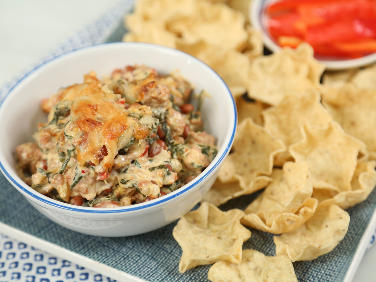 Sausage Bean Spinach Dip Still