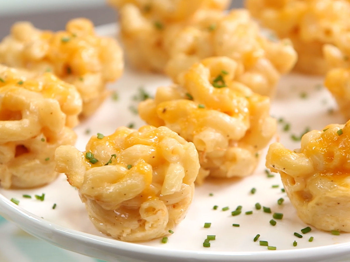 Baked Mac And Cheese Bites Still