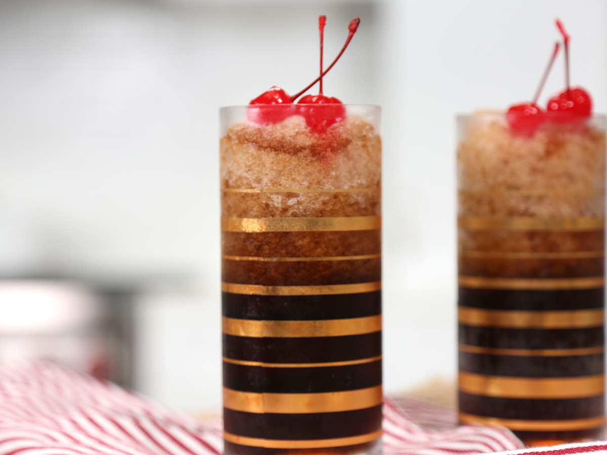 Cherry Bourbon Coca Cola Slushies