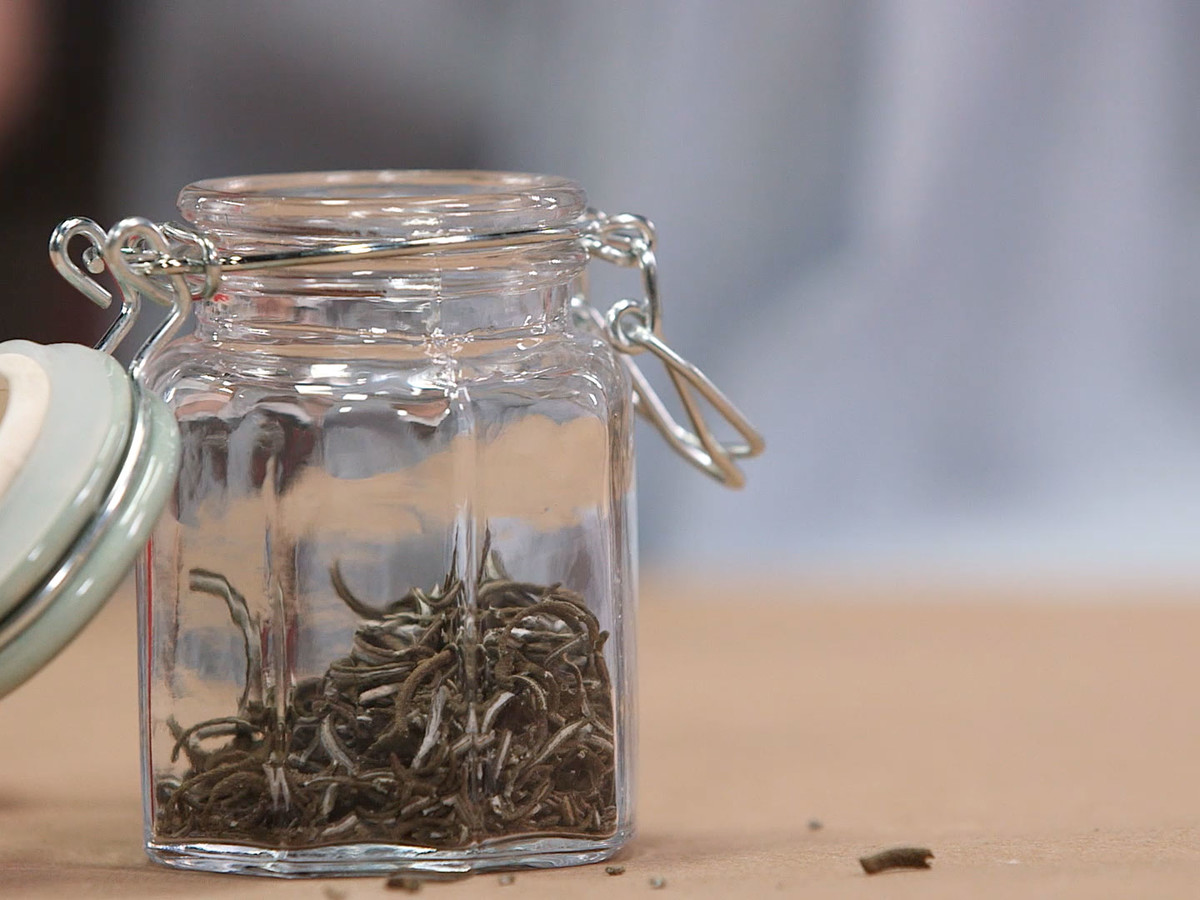 Dried Herbs In Jar