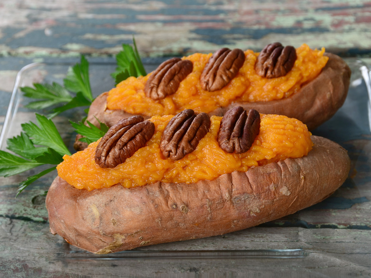 Twice Baked Sweet Potato Boats