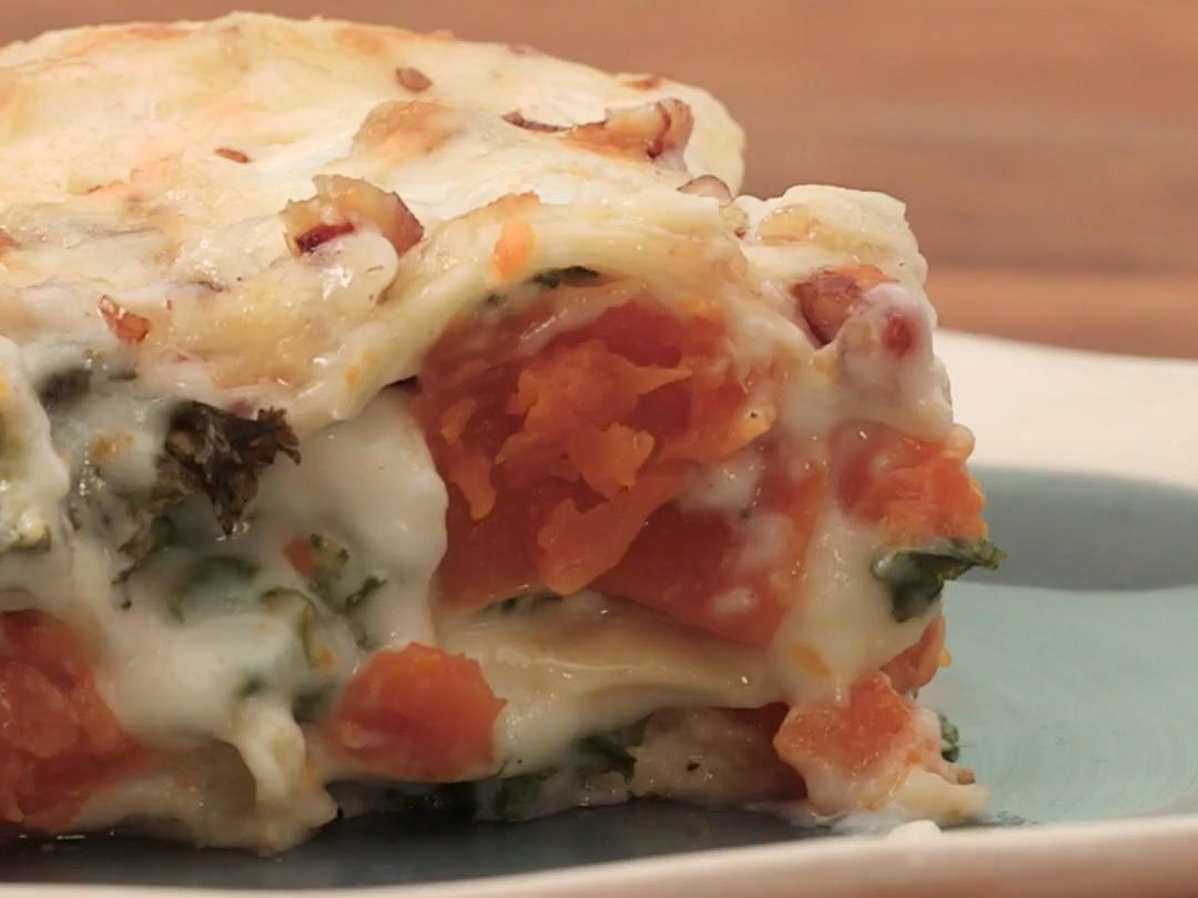 How to Make a Butternut Squash and Kale Lasagna Image