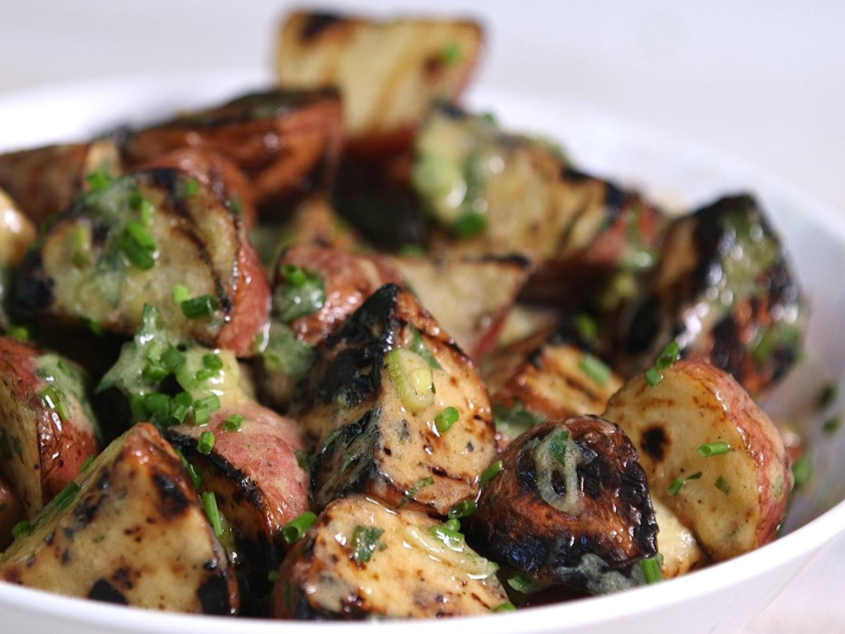 Well Done Grilled Potato Salad