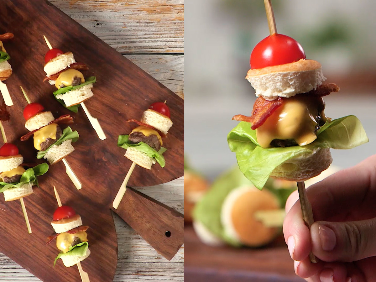 Mini Cheeseburger Skewers