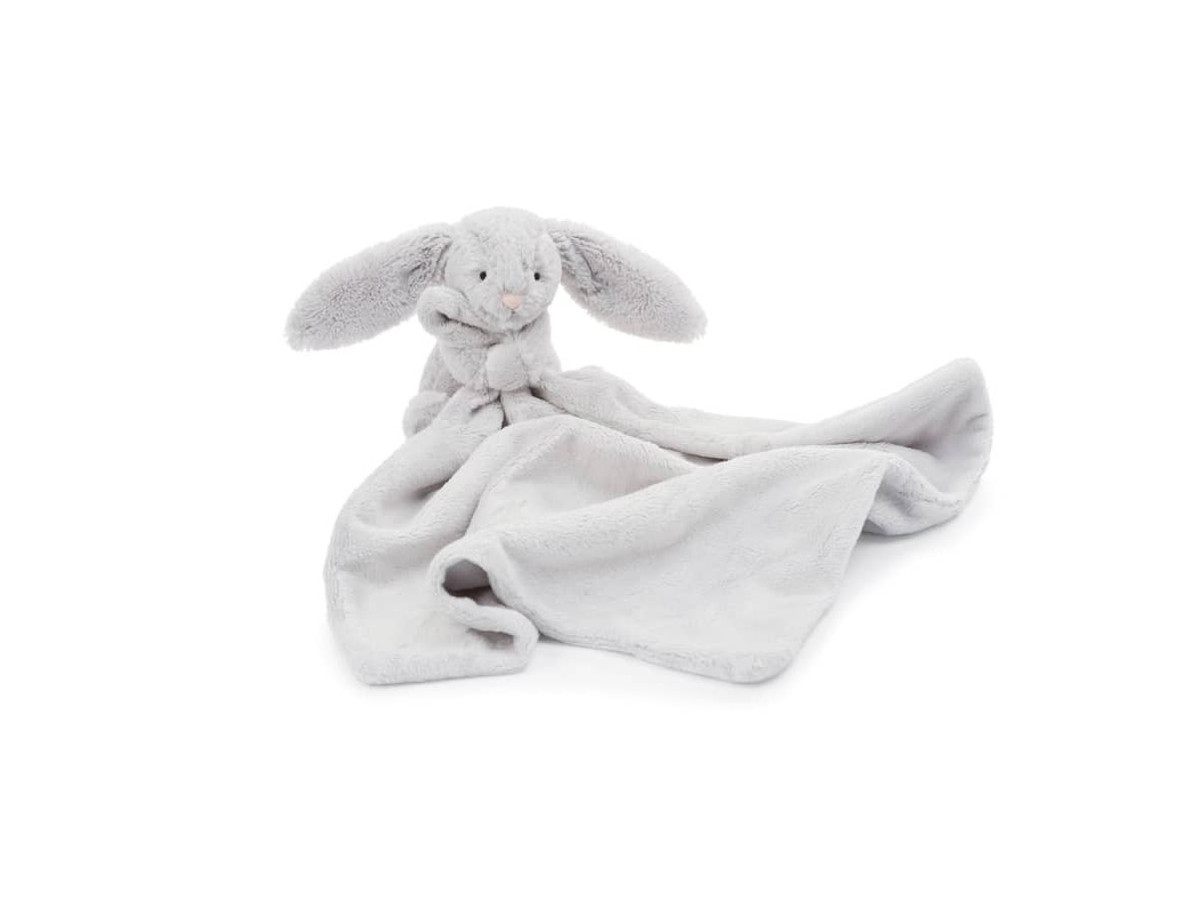 Jellycat 'Grey Bunny Soother' Blanket
