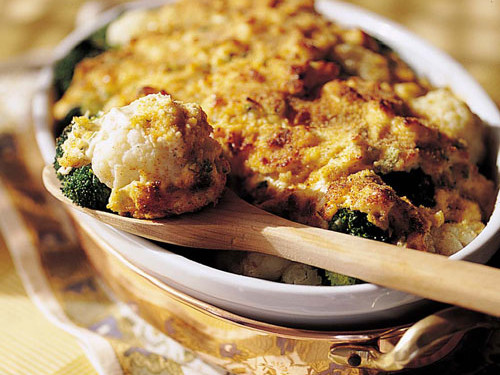 Thanksgiving Dinner Side Dishes: Broccoli-and-Cauliflower Gratin
