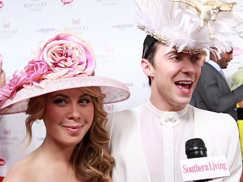 Tara Lipinski and Johnny Weir at Kentucky Derby
