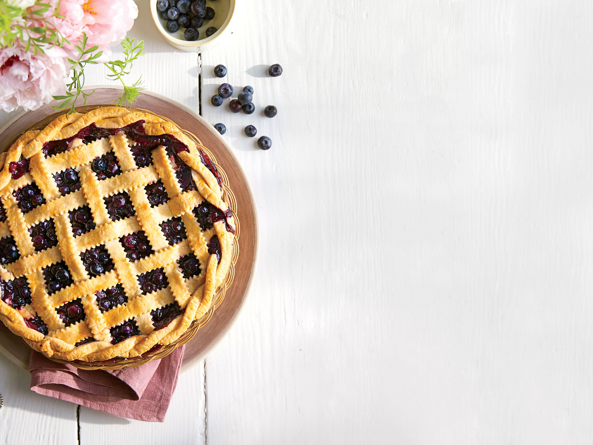 Honey-Balsamic-Blueberry Pie