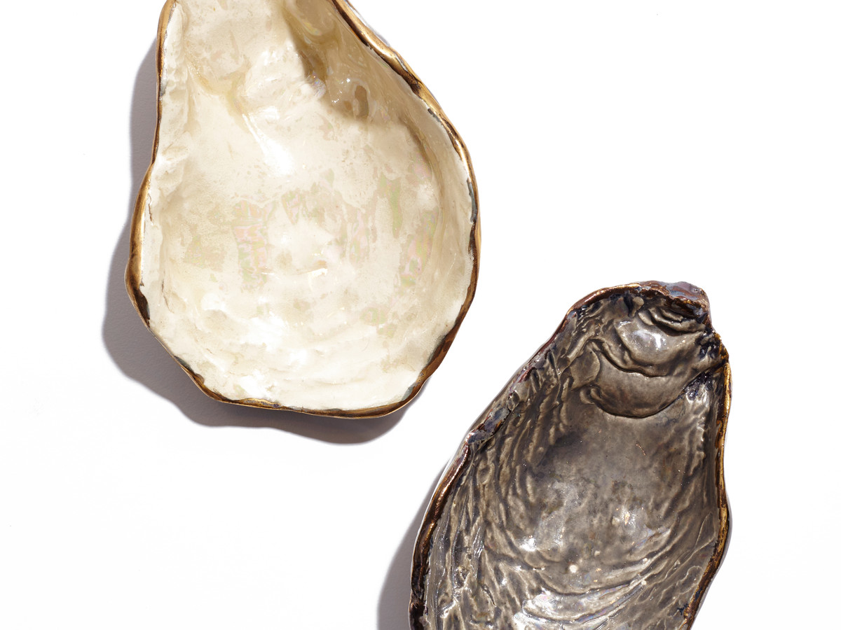 Heirloomed Oyster Shell Salt Cellars