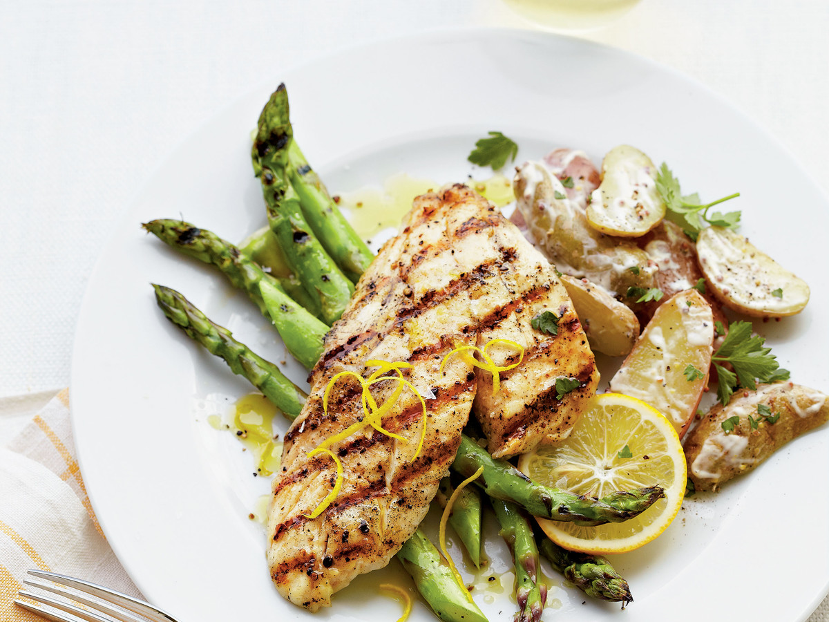 Grilled Triggerfish with Potato Salad