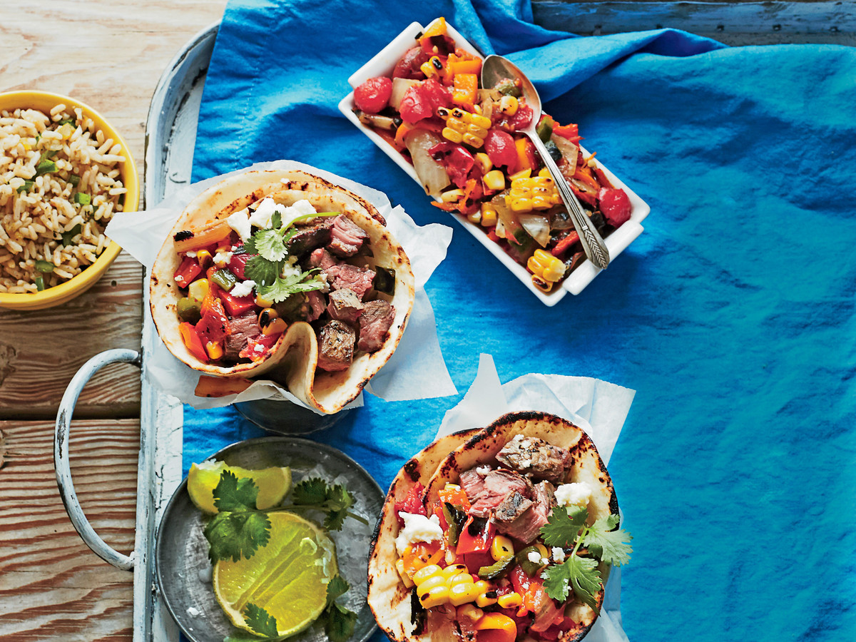 Friday: Steak Tacos with Charred Salsa