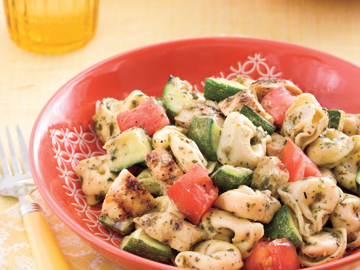 Tuesday: Grilled Chicken-and-Veggie Tortellini