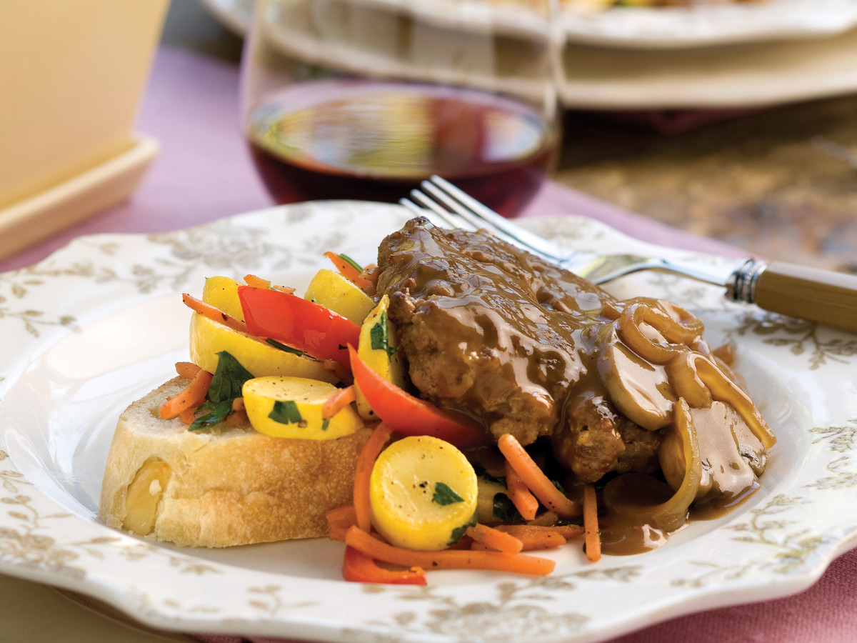 Hamburger Steak With Sweet Onion-Mushroom Gravy Recipe