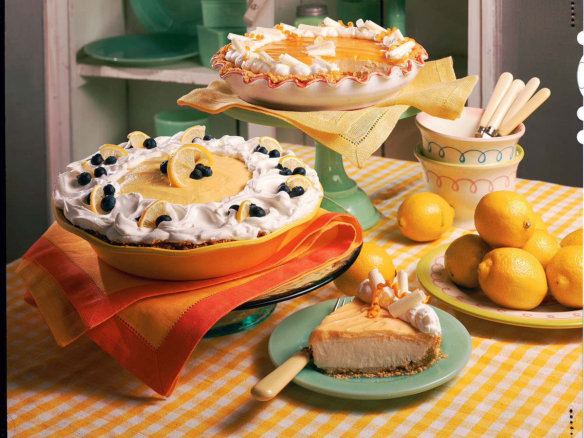 Lemon-Blueberry Cream Pie