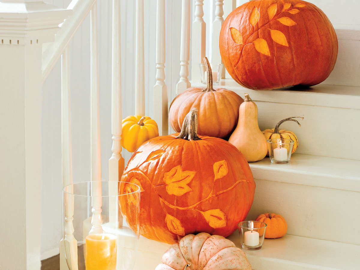 How To Etch a Pumpkin - Southern Living