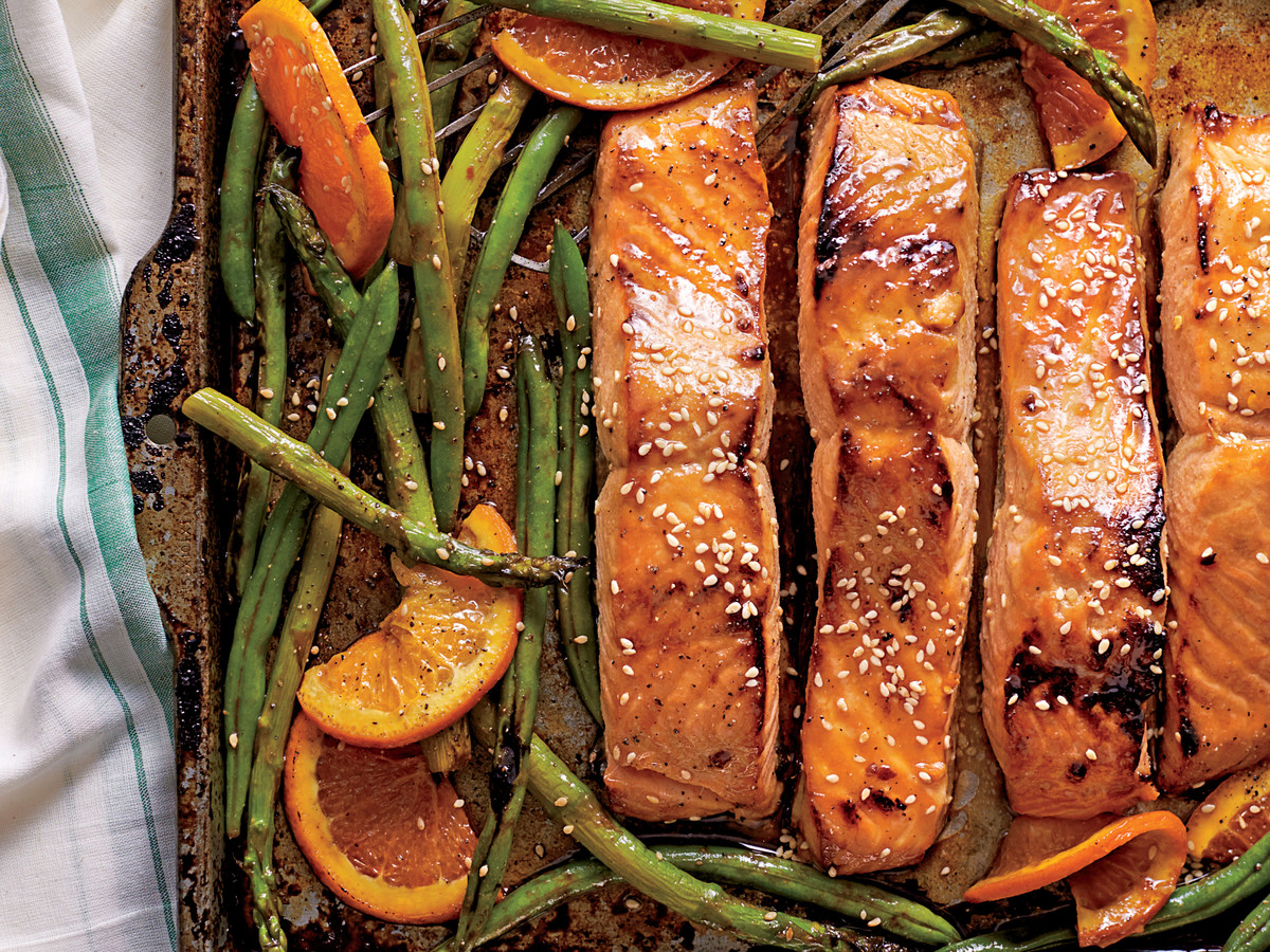 Southern food cooking and recipes honey soy glazed salmon with veggies and oranges forumfinder Choice Image