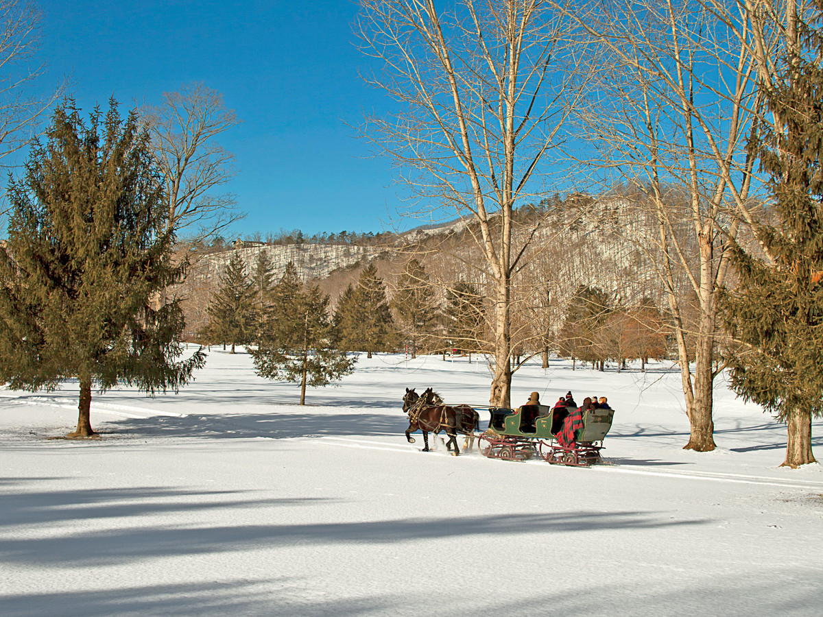 The Greenbrier Sleigh Ride