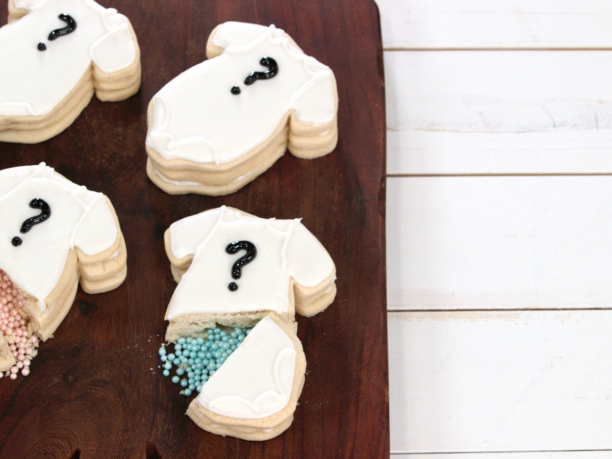 Gender Reveal Confetti Cookies Image