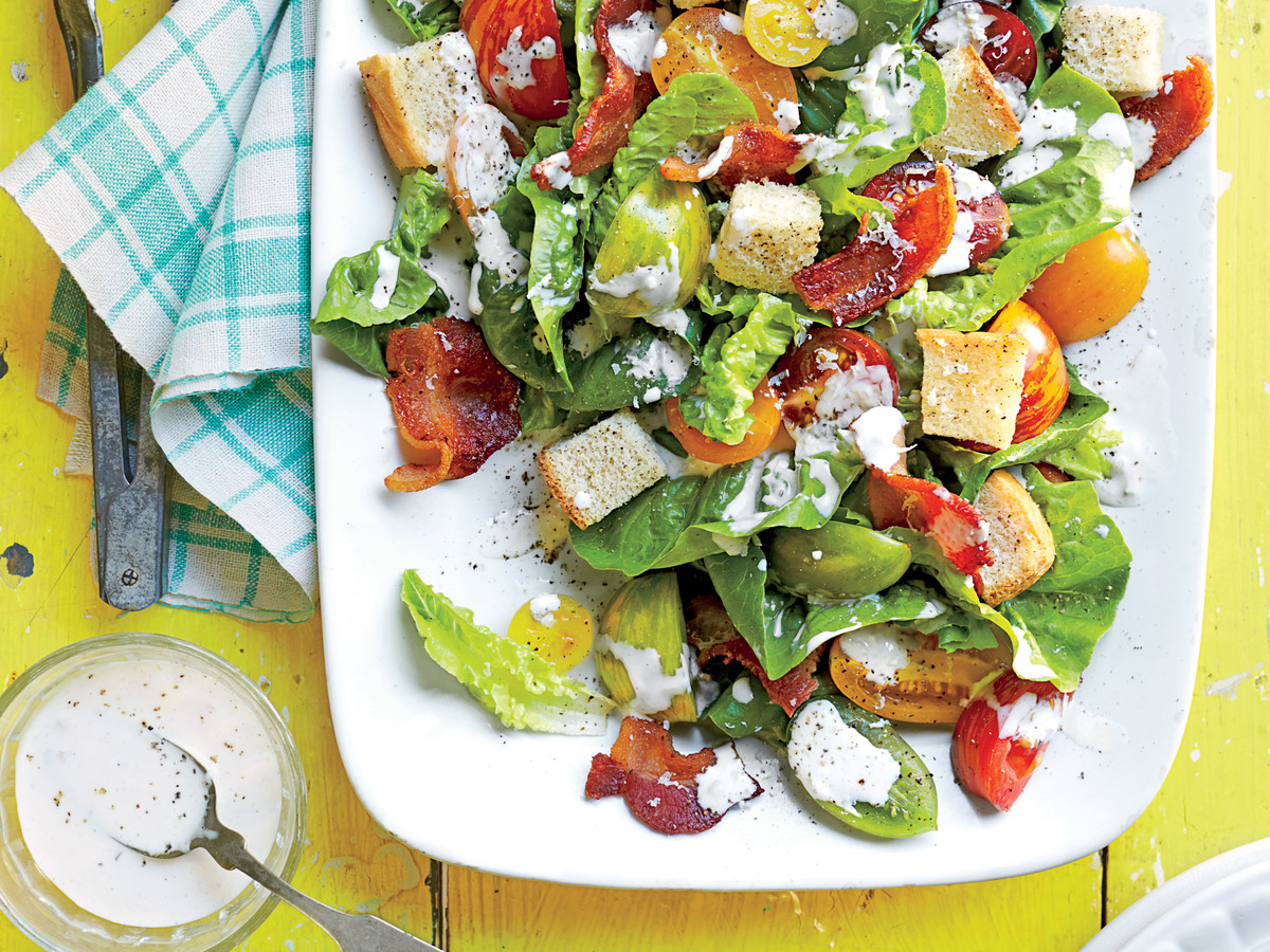 Simple and tasty summer salads on the holiday table 5