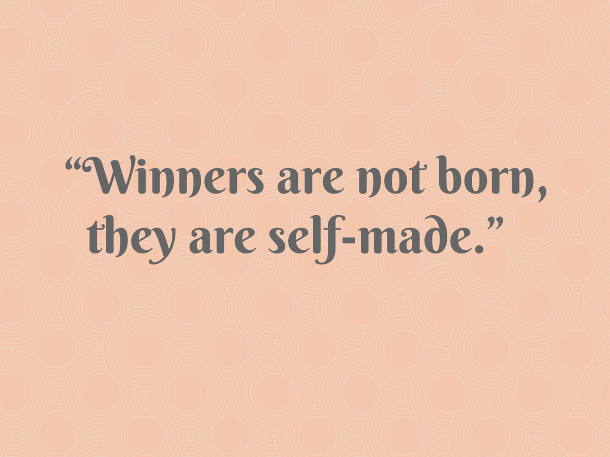 Pat Summitt on Winners