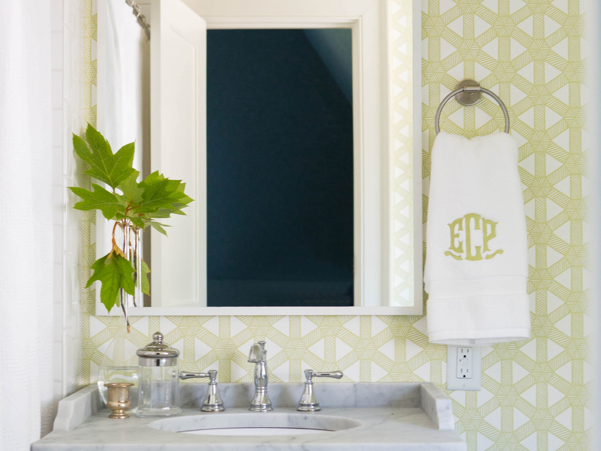 Green Guest Bathroom