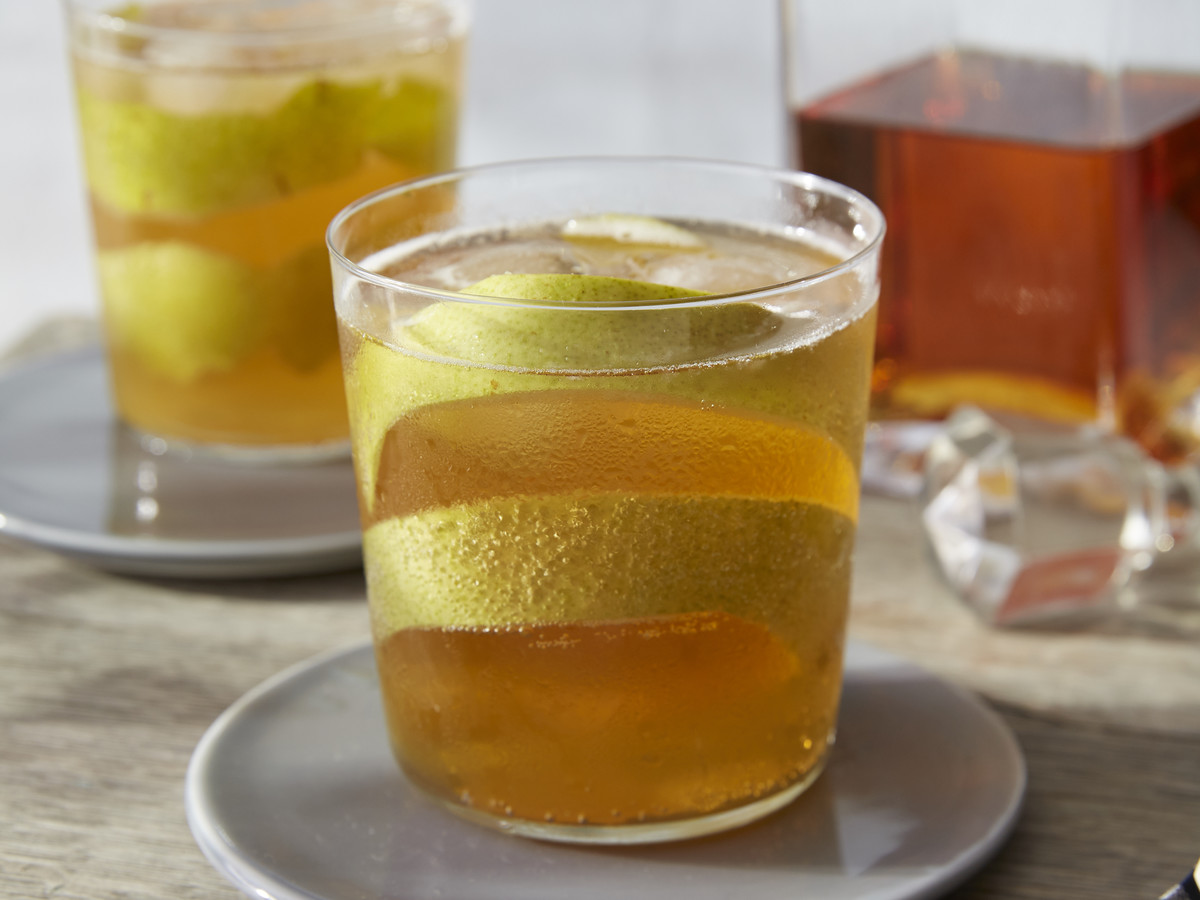 Bourbon Pear and Hard Cider Cocktail