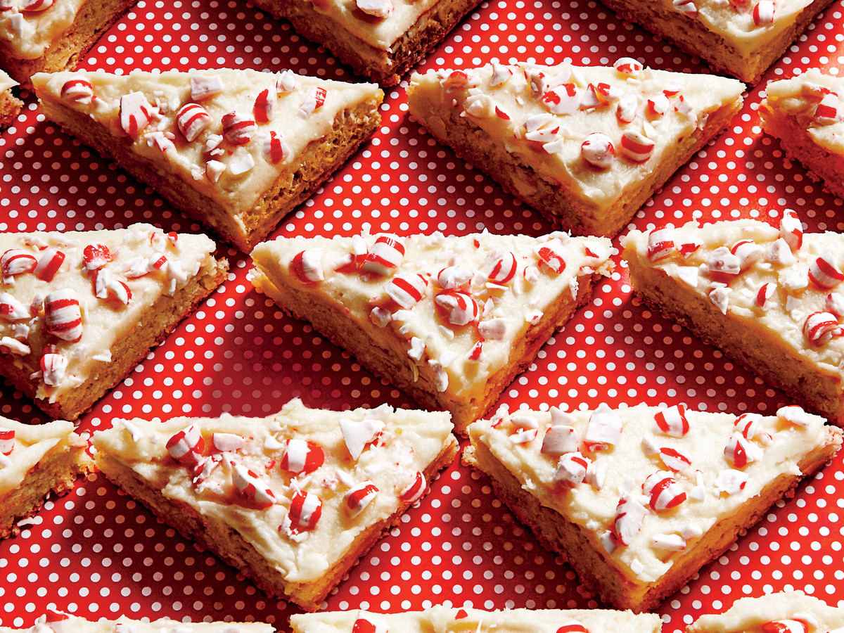 White Chocolate-Peppermint Blondies
