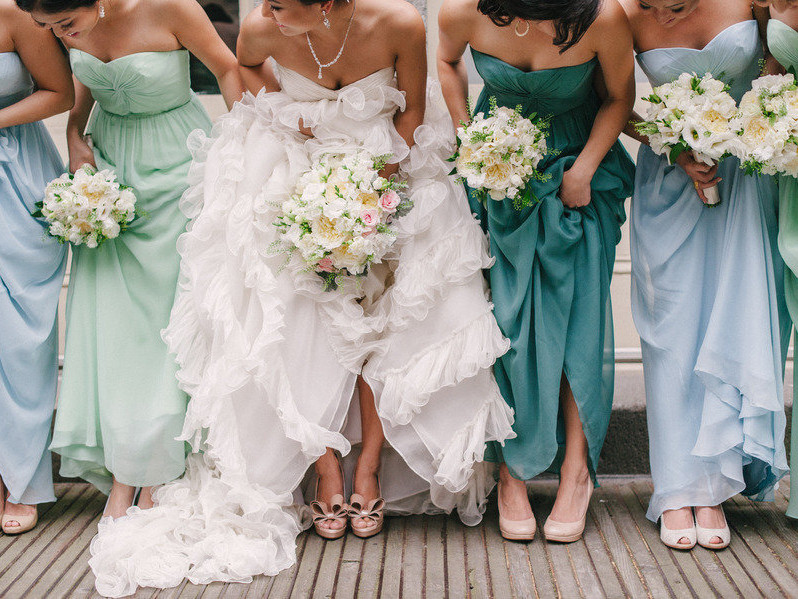2017 Bridesmaid Dress Trends ombre 1