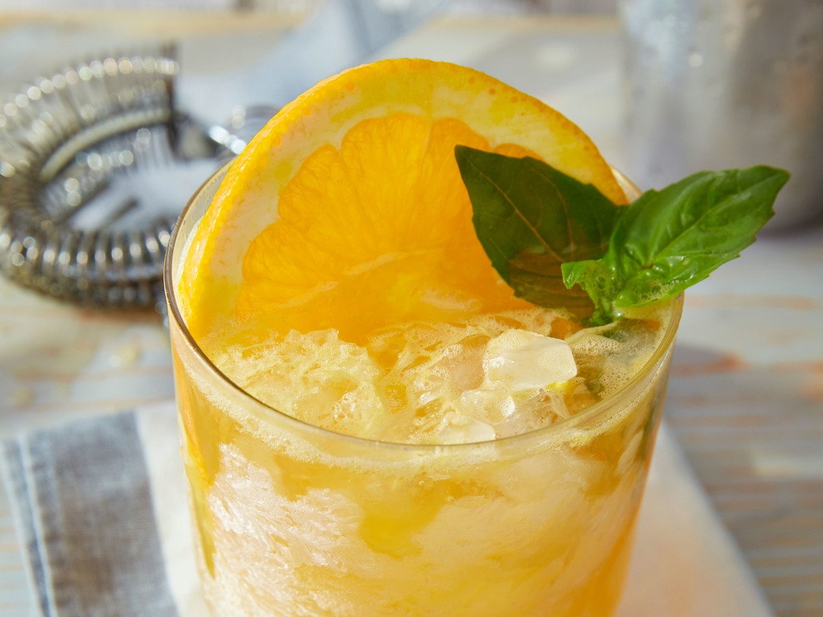 Basil Bourbon Orange Smash