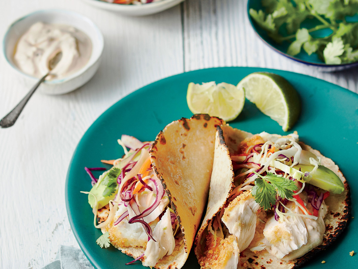 Fish Tacos and Topping Bar