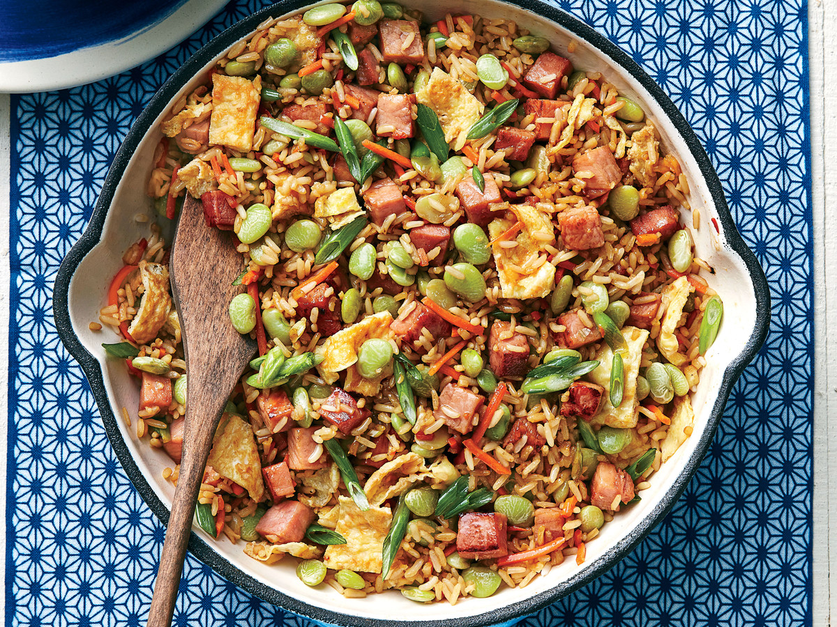 Ham and Lima Bean Fried Rice Recipe