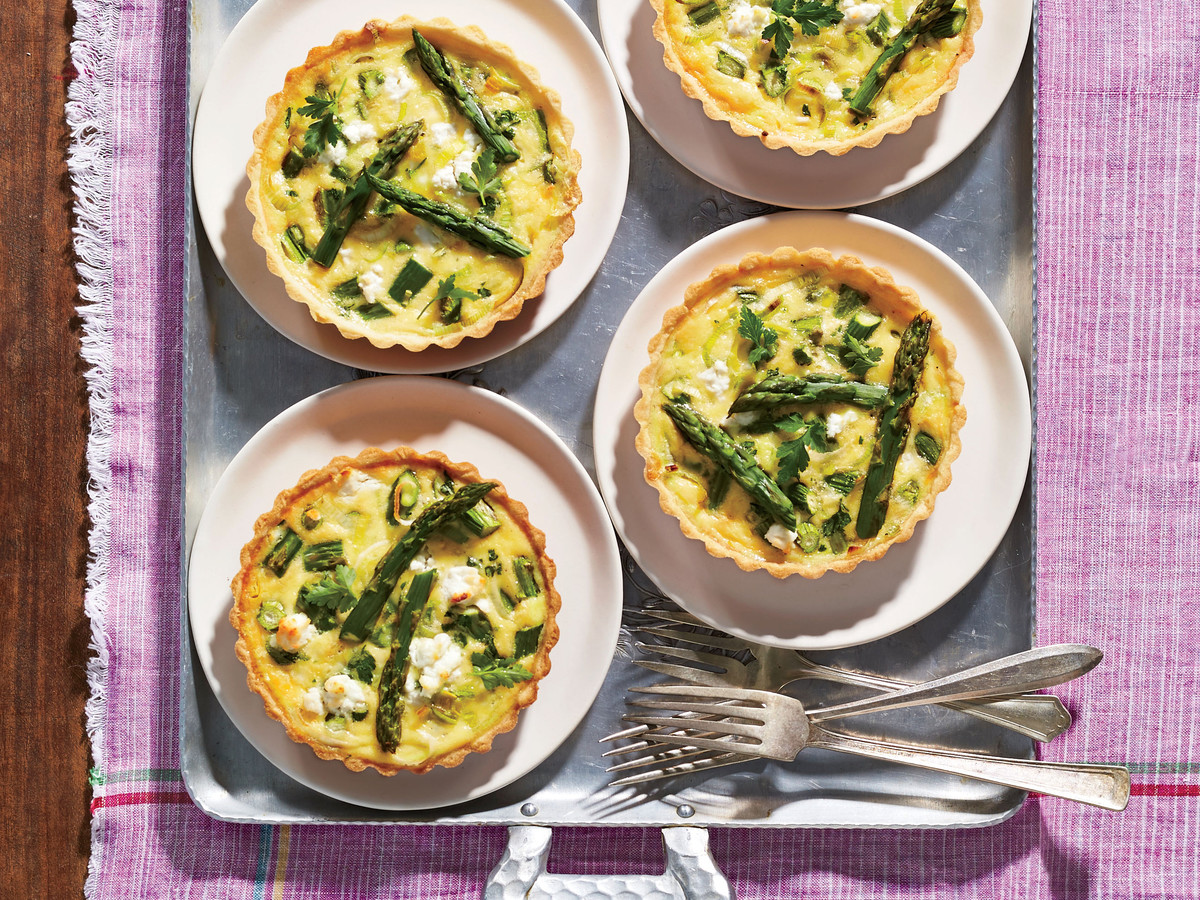 Asparagus and Goat Cheese Mini Quiches