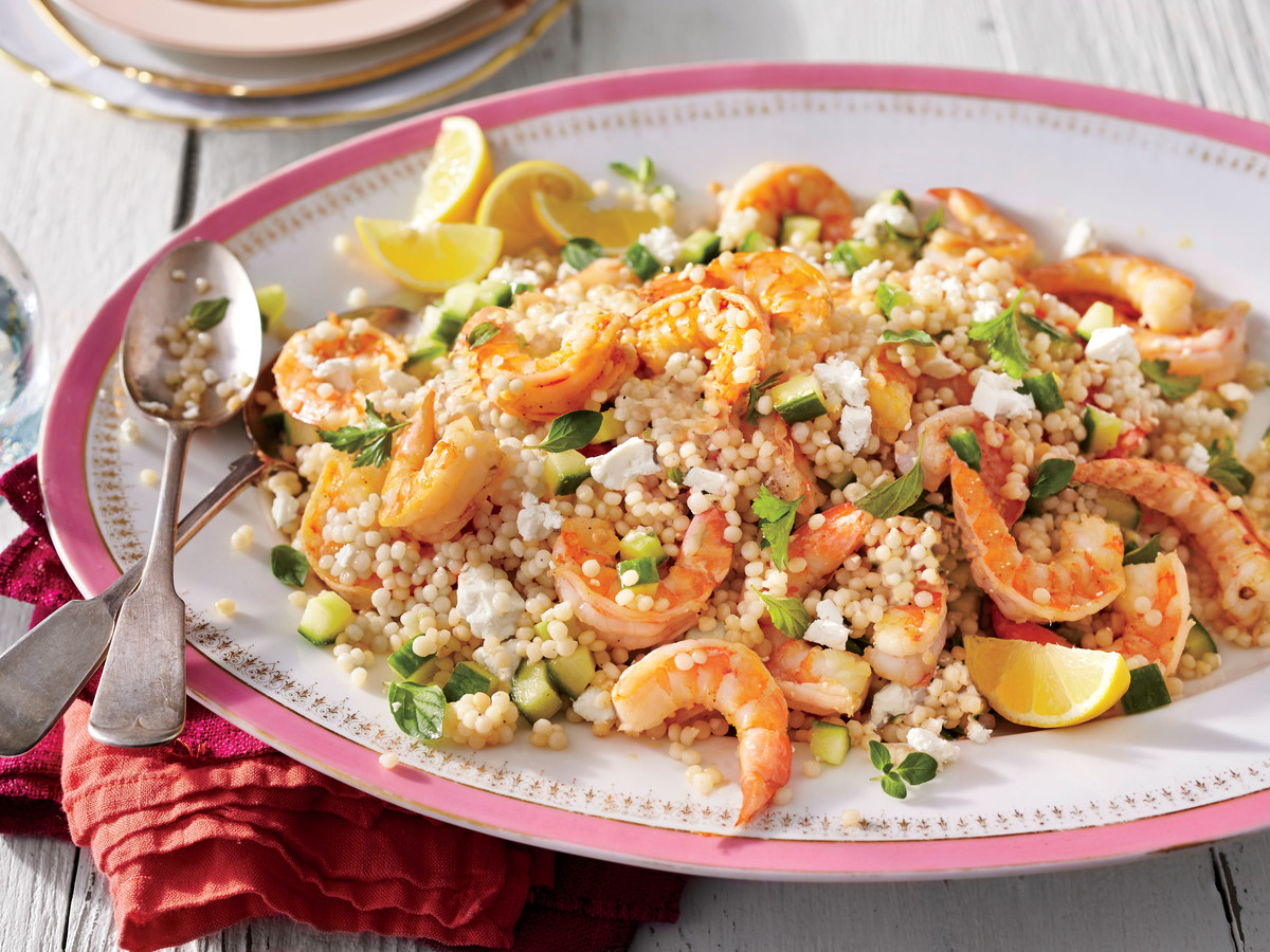 Garlic Shrimp and Herbed Couscous Salad Recipe