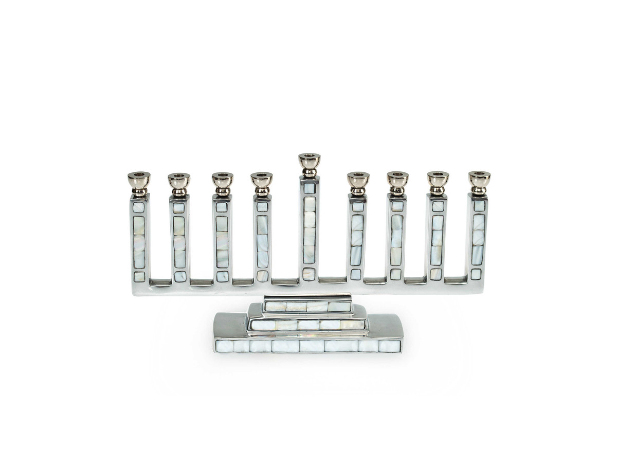 Mother of Pearl Menorah