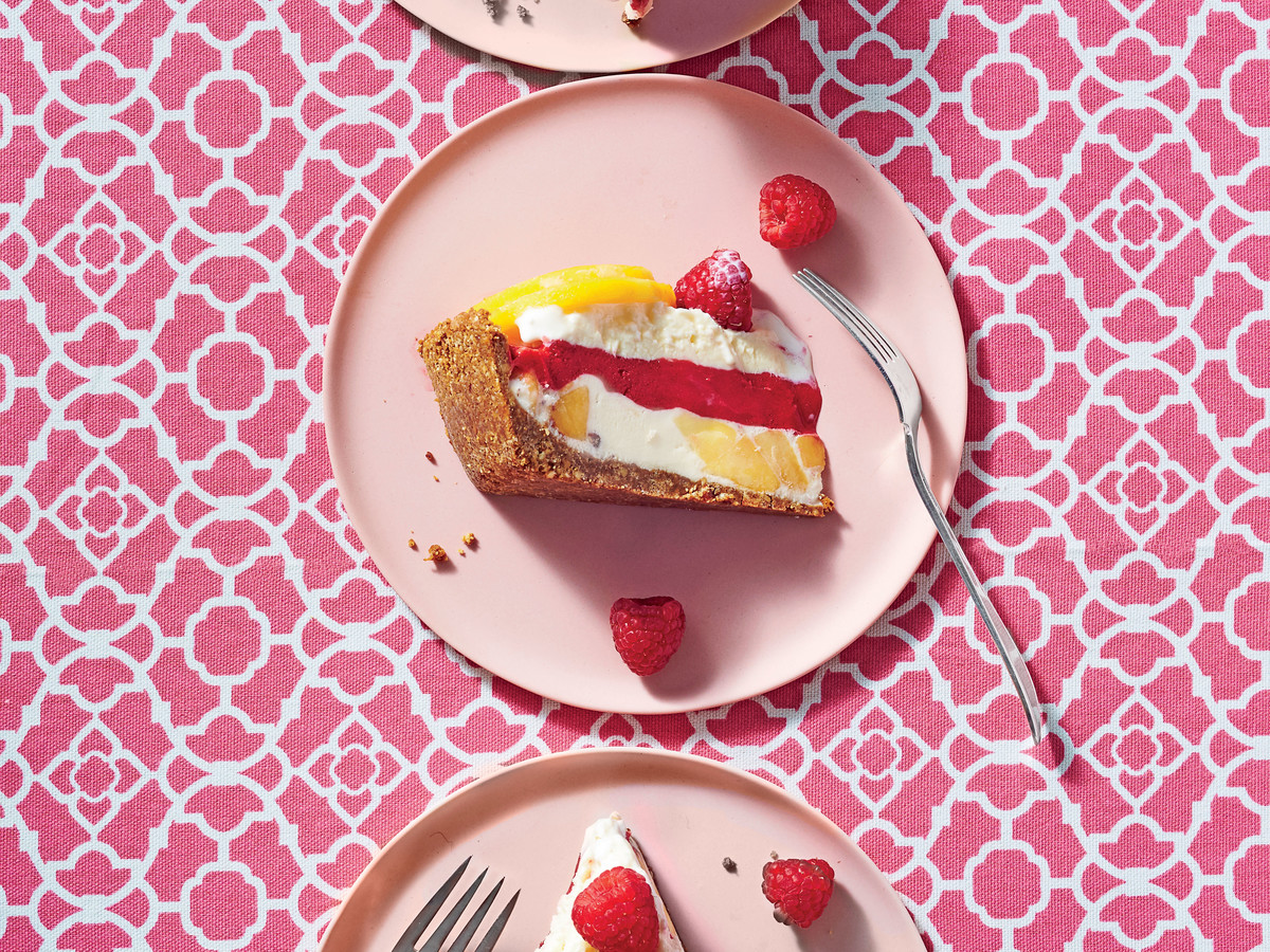 Peach Melba Ice-Cream Pie