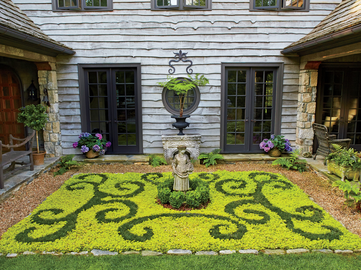 Landscaping ideas front yard backyard southern living parterre garden in highlands nc workwithnaturefo