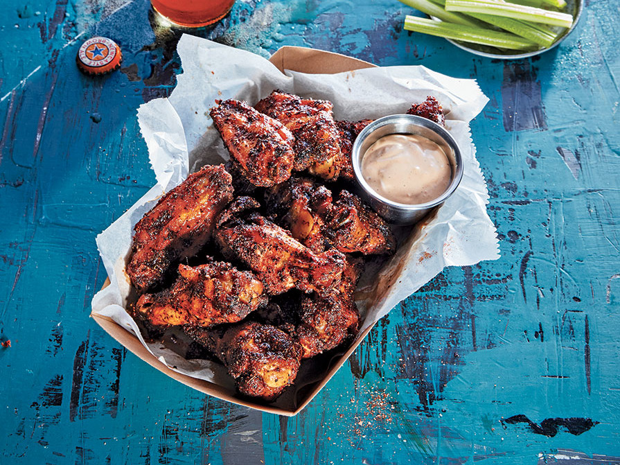 Dry-Rubbed Smoked Chicken Wings