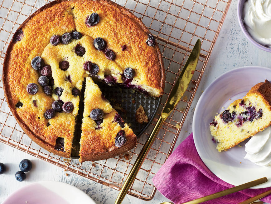 Blueberry-Cornmeal Cake Recipe