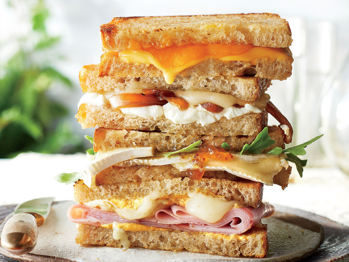 Ham and Dijon Grilled Cheese Recipe