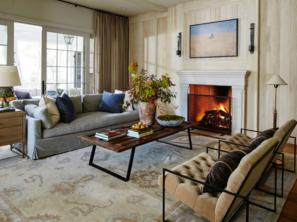 trend furniture. Living Room With Light Oak Paneled Walls And Fireplace Trend Furniture E