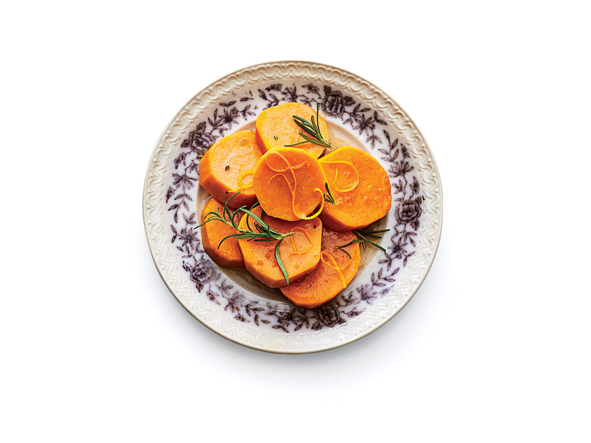 Candied Yams with Rosemary and Orange Zest Recipe Image