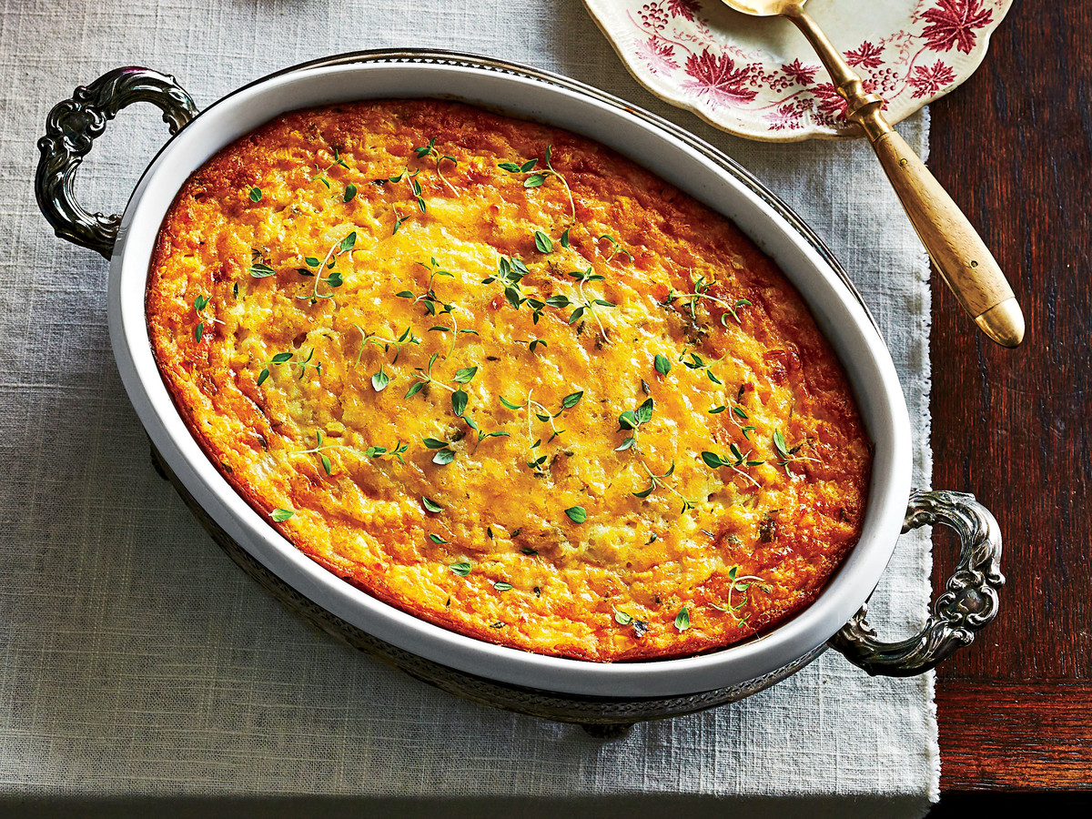 Savory Corn Pudding Recipe Image