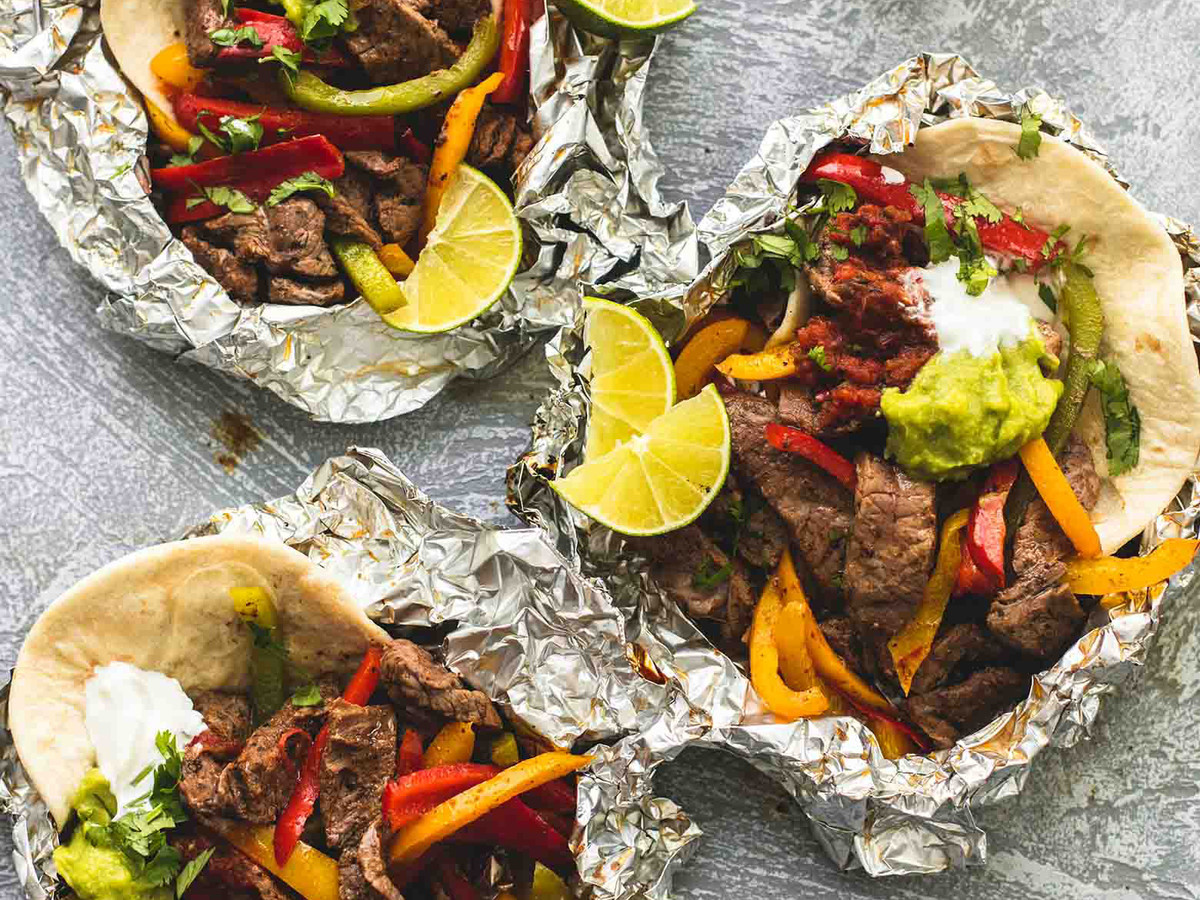 Steak Fajita Foil Packets