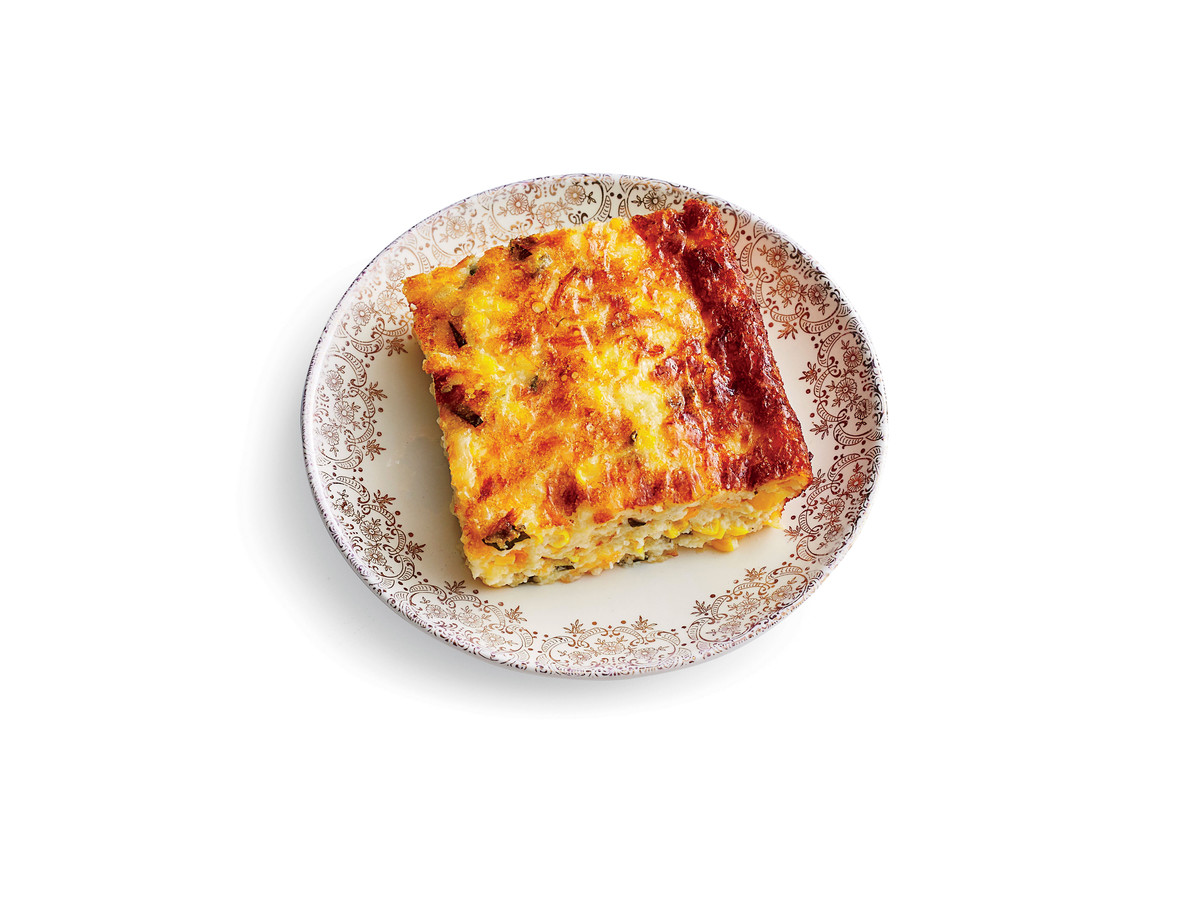 Three-Cheese Corn Pudding Recipe Image