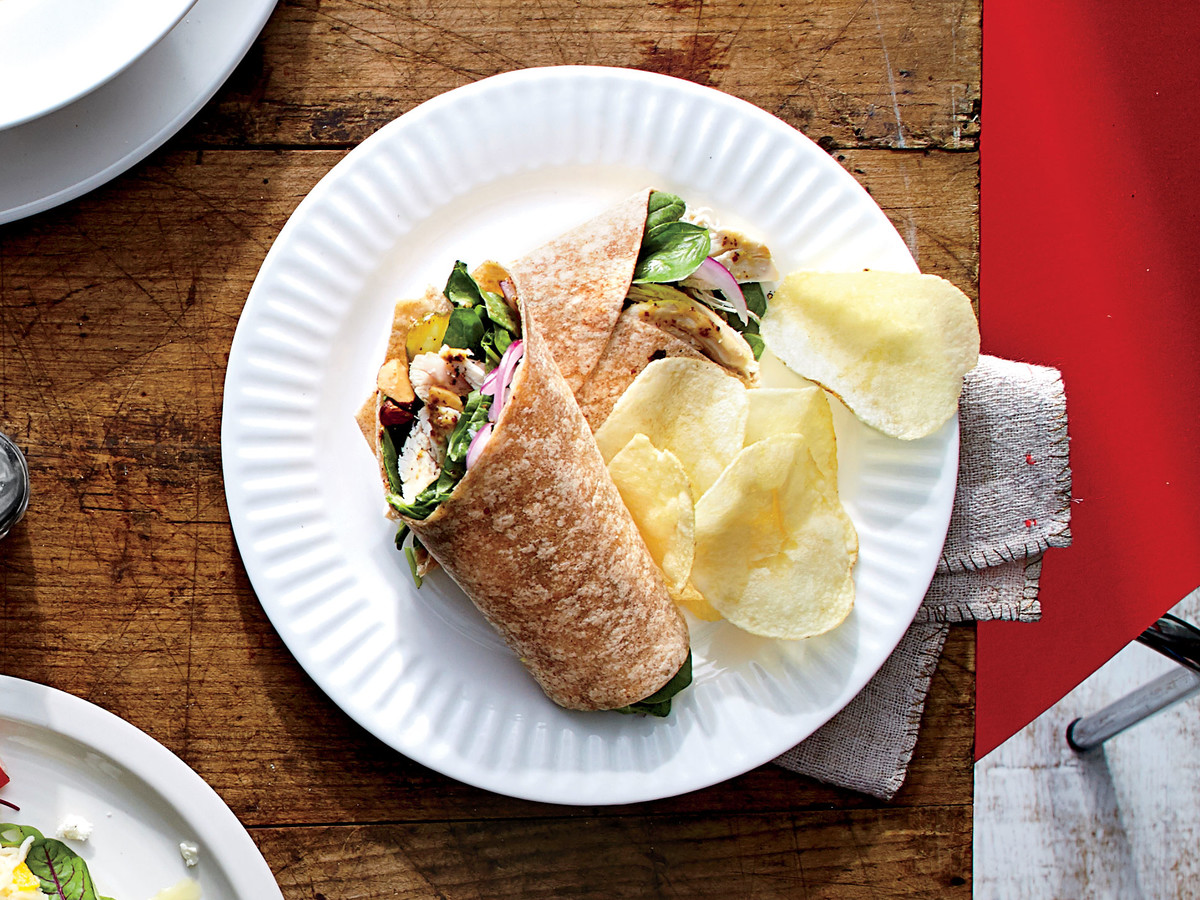 Almond-Chicken Wrap